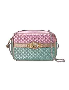 Laminated Leather Small Shoulder Bag by Gucci