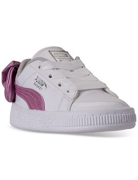 Toddler Girls' Basket Bow Patent Casual Sneakers From Finish Line by Puma