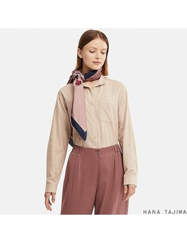 Women Hana Tajima Flannel Oversized Long Sleeve Shirt by Uniqlo