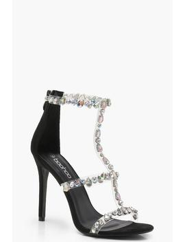 embellished-cage-sandals by boohoo