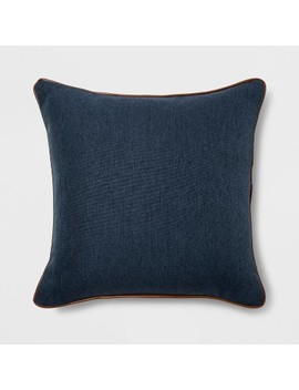 Leather Piping Square Throw Pillow   Threshold™ by Shop This Collection