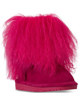 Toddler Girls' Boo Fur Boots From Finish Line by Bearpaw