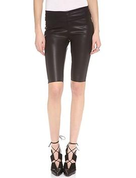 Vegan Leather Biker Shorts by Blank Denim
