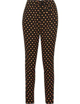 Polka Dot Crepe Tapered Pants by Red Valentino