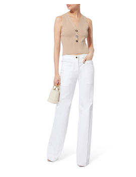 Camille Button Front Tank by Intermix