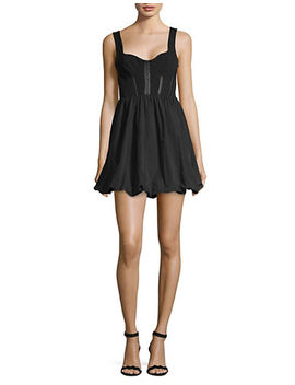 Corset Puffball Mini Dress by Topshop