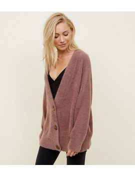 Petite Mink Fluffly Cardigan by New Look