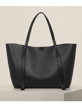 Vincent Leather East West Tote by Allsaints