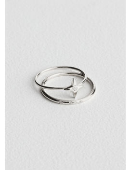 Four Point Star Ring Set by & Other Stories