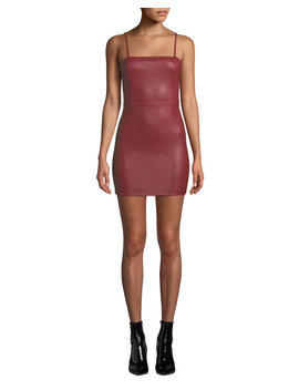 Fitted Leather Cami Mini Dress by T By Alexander Wang