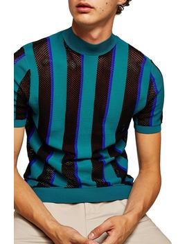 Mesh Stripe T Shirt by Topman