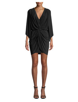 Teget Draped Cocktail Dress by Misa Los Angeles