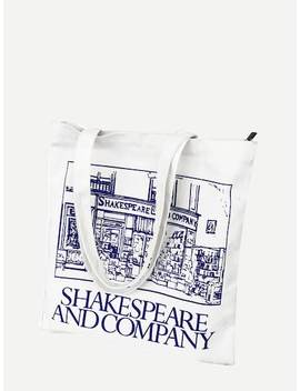 Slogan Print Canvas Tote Bag by Sheinside