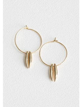Duo Bar Charm Hoop Earrings by & Other Stories