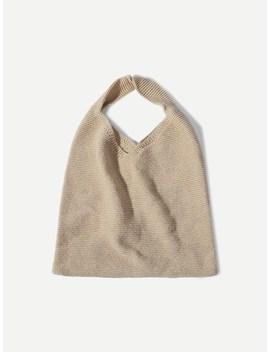 Crochet Knit Tote Bag by Sheinside