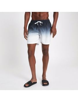Black Dip Dye Swim Shorts by River Island