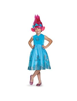 Disguise Poppy Deluxe W/Wig Trolls Costume, Blue, Medium (7 8) by Disguise