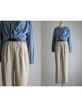 Natural Linen Trousers by Etsy