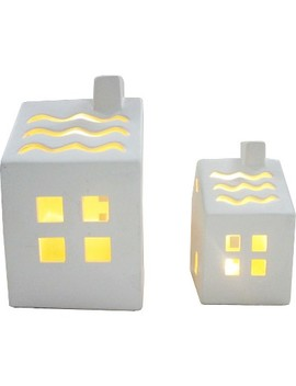 Ceramic Lantern House With A Chimney Bundle   Bullseye's Playground™ by Bullseye's Playground™