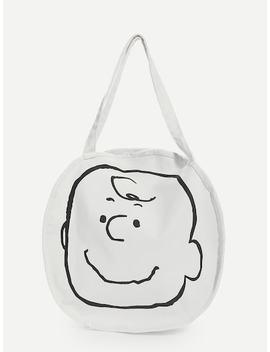 Cartoon Print Round Shaped Crossbody Bag by Sheinside