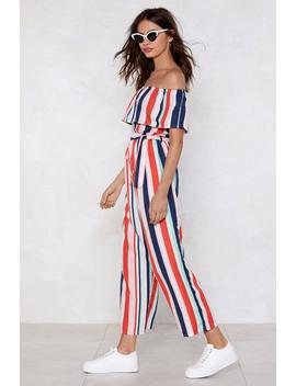 Summer Time Sadness Striped Jumpsuit by Nasty Gal