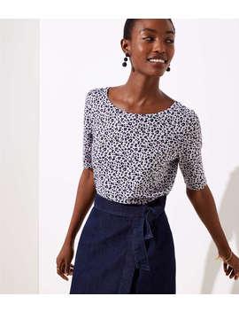 Leopard Print Vintage Soft Shirttail Tee by Loft