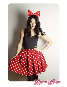 Minnie Mouse Skirt  Handmade Disney Skirt   Halloween Costume Minnie Mouse   Red White Polka Dot   Halloween Costume Adult by Etsy