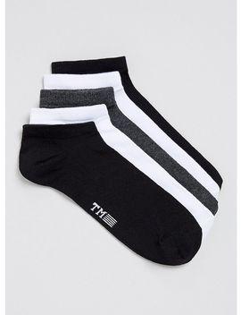 Assorted Colors Sneaker Socks 5 Pack by Topman