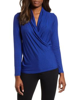 Surplice Stripe Top by Gibson