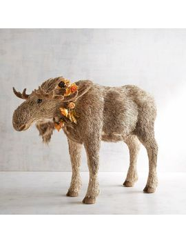 Teddy The Large Natural Standing Moose by Grateful Harvest Collection