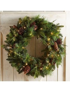 "30"" Oversized Led Pre Lit Forever Fresh Wreath by Pier1 Imports"
