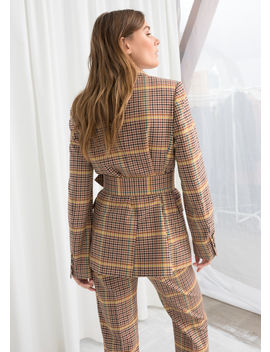 Belted Plaid Blazer by & Other Stories
