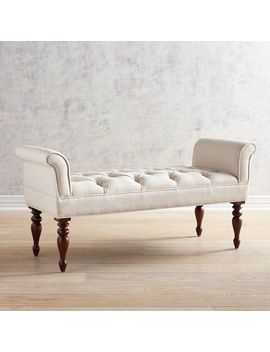 Flax Winged Bench by Audrey Collection