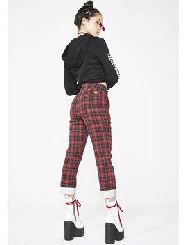 Tartan Straight Work Pants by Dickies Girl