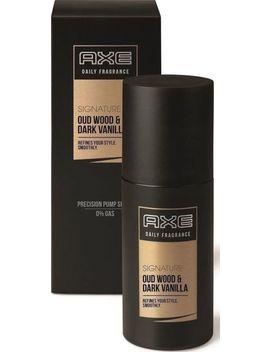 Axe Men Signature Daily Fragrance Oud Wood & Dark Vanilla Pump Spray 100ml by Axe