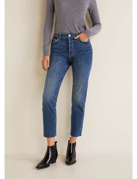 Straight Medium Wash Jeans by Mango