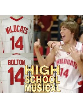 Troy Bolton High School Jersey Wildcats High School Musical Zac Efron Disney Channel Hollywood by Etsy