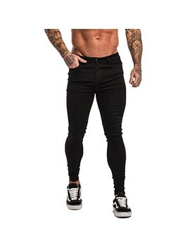 Gingtto Men's Ripped Repaired Skinny Stretch Jeans by Gingtto