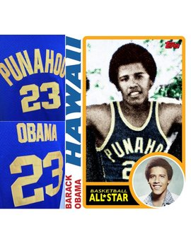Barack Obama High School Basketball Jersey Punahou School Honolulu Hawaii United States Of America by Etsy