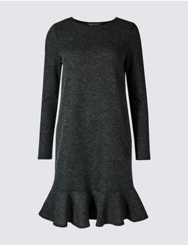 Textured Long Sleeve Shift Dress by Marks & Spencer