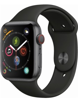 Apple Watch Series 4 (Gps + Cellular), 44mm Space Gray Aluminum Case With Black Sport Band   Space Gray Aluminum by Apple