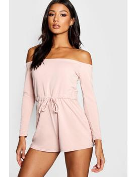 Loopback Bardot Lounge Playsuit by Boohoo