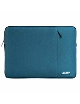 Mosiso Laptop Sleeve Compatible 13 Inch New Mac Book Pro Touch Bar A1989 & A1706 & A1708 2018 2017 2016, Surface Pro 2017, Dell Xps 13, Polyester Water Repellent Vertical Bag With Pocket, Deep Teal by Mosiso