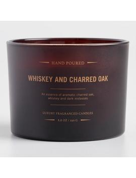 Whiskey And Charred Oak Dark Amber Filled Jar Candle by World Market