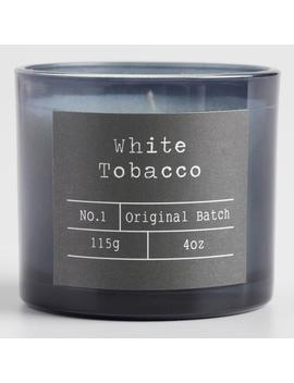 White Tobacco Smoky Gray Filled Travel Candle by World Market