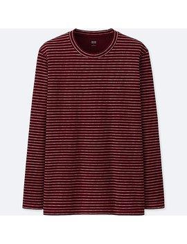 Men Heattech Stretch Fleece Crew Neck Long Sleeve T Shirt by Uniqlo
