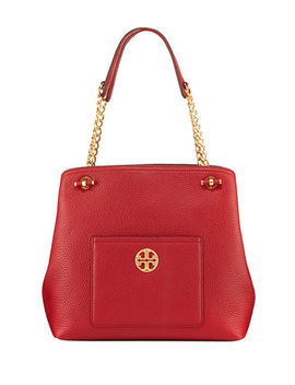 Chelsea Slouchy Leather Shoulder Tote Bag by Tory Burch