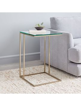 Streamline C Side Table   Glass by West Elm