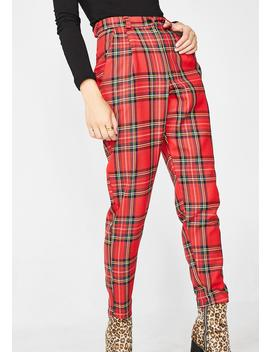 Plaid Aubrey Classic Trousers by Love Too True