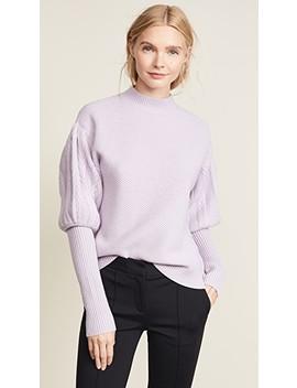 Wool Tassel Knit Puff Sleeve Sweater by Jonathan Simkhai
